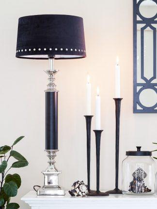 Lampfort York  Silver/svart Liten