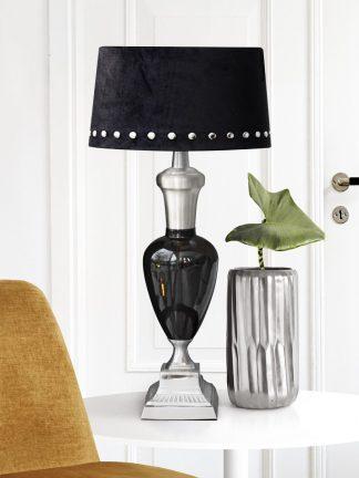 Lampfot May fair silver/black